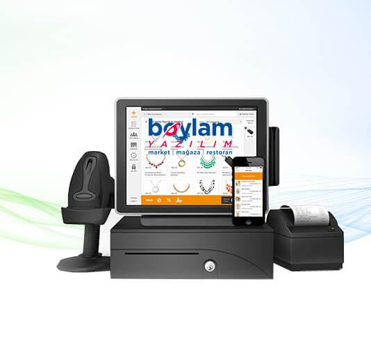 Çözüm birimleri: PC POS Dokunmatik Ekran, Barkod Okuyucu, Barkod Yazıcı, El Terminali,