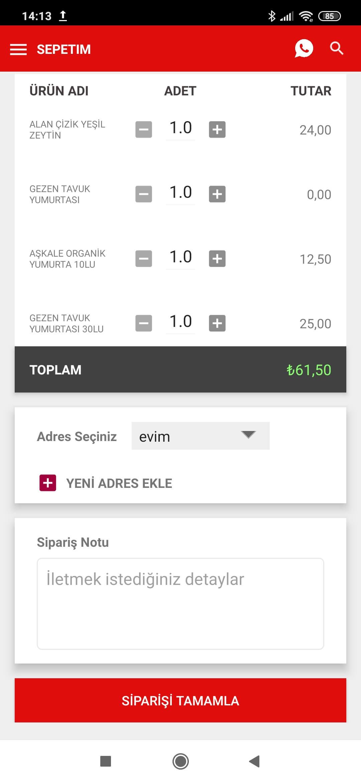 Boylam Mobil E-Ticaret Uygulaması